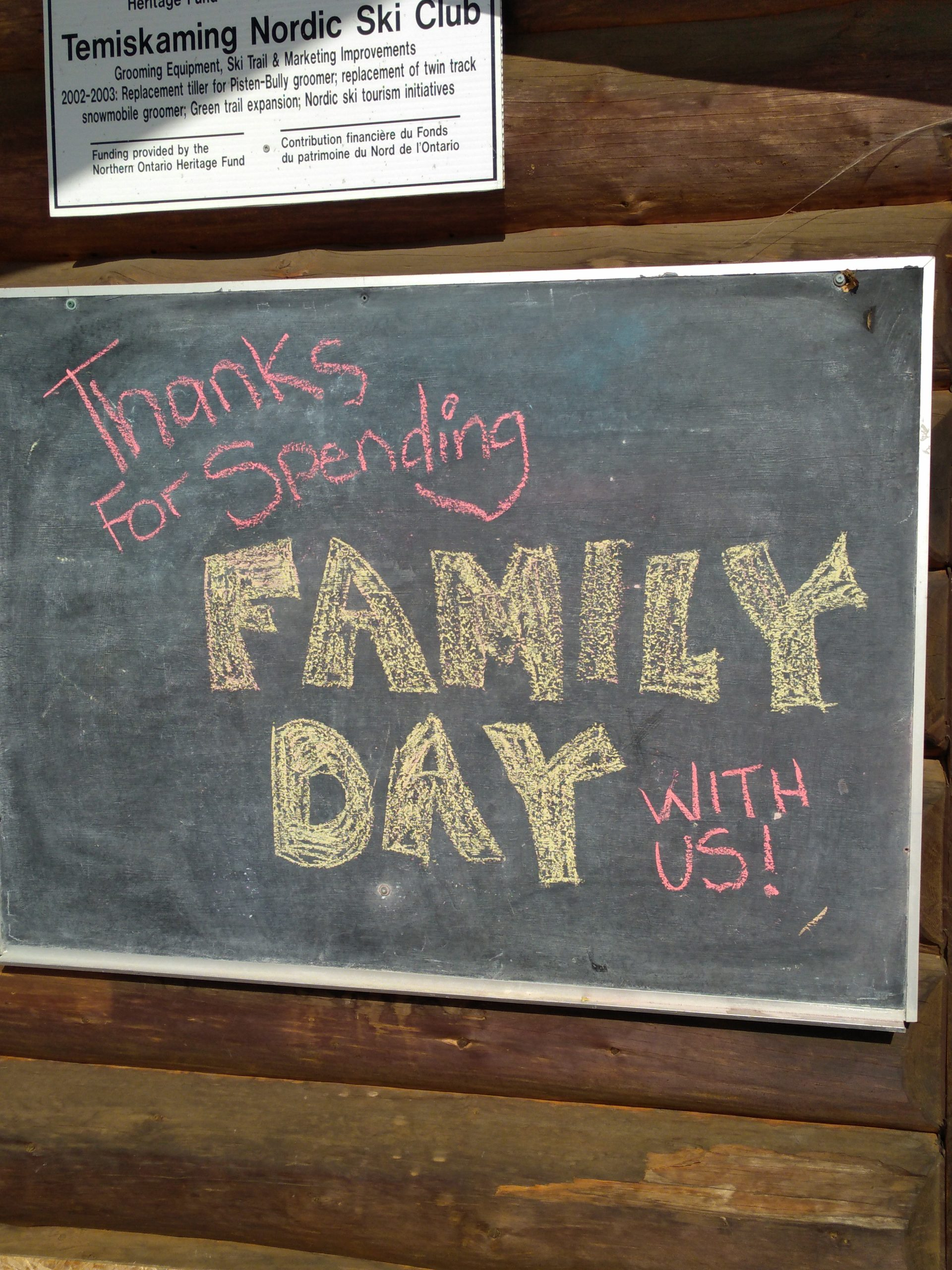 Family Day Chalkboard